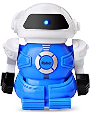 GEEKERA Robots for Kids, Mini Remote Control RC Robot Cans Toy Smart Fun Walking Robotics Birthday Gifts for Children Boys Girls Toddlers