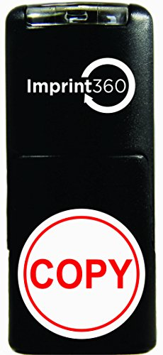 Imprint 360 AS-IMP2008 Round Stamp Copy In Circle, Red Ink, Durable, Light Weight Self-Inking Stamp, 5/8