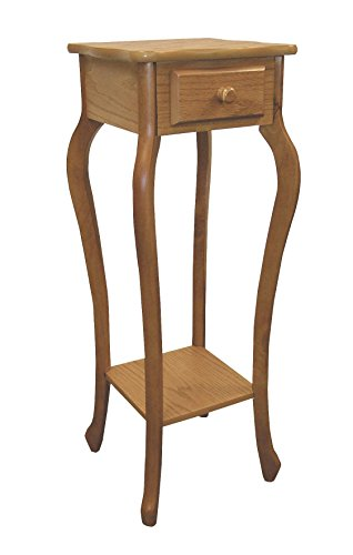 Frenchi Furniture Plant Stand/ Phone stand with Curved Legs in Oak Finish (Finish Plant Stand Oak)