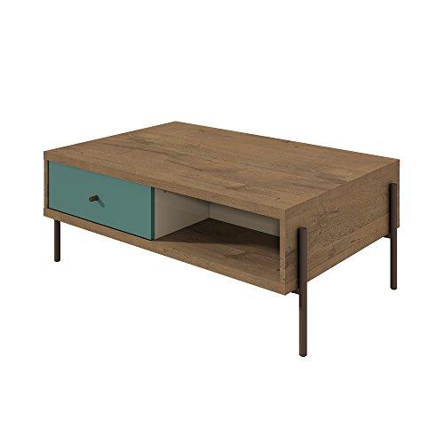 Manhattan Comfort 350642 Joy Series Modern Double Sided Coffee Table Blue