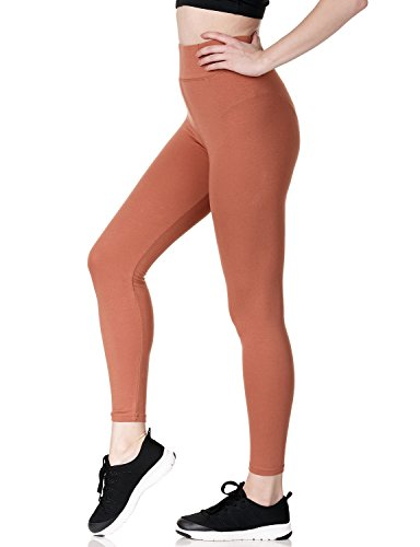 Thick Camel (REGNA X Women's Camel Full Length Thick Cotton athletic-leggings)