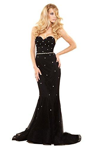 Terani Couture P3121 Women's Prom Dress 6 Black