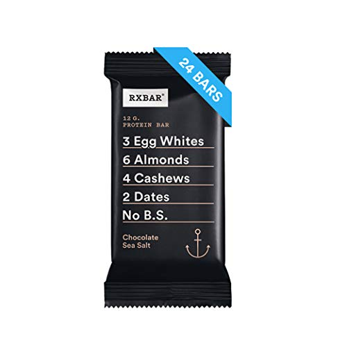 RXBAR, Chocolate Sea Salt, Protein Bar, Breakfast Bar, High Protein Snack, 4 Count, Pack of 6