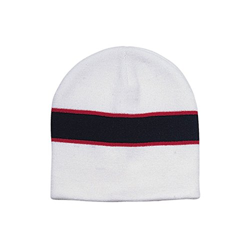 Hats & Caps Shop Jaquard Knitting Cap - By TheTargetBuys | (WT-BLK-RED) (Electric New Era Hat compare prices)