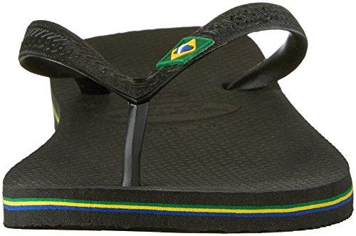 Havaianas Menns Brasil Sandal, Svart, 43/44 Br (11/12 M Oss)