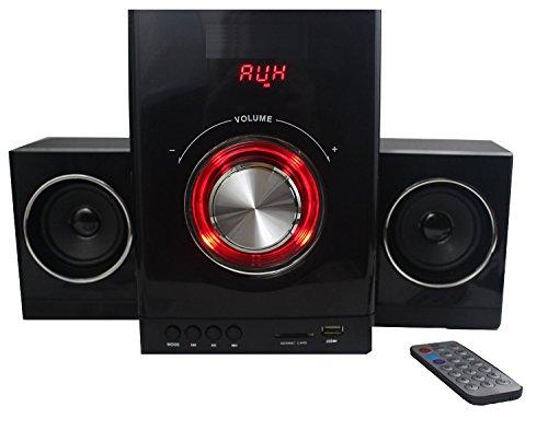 Multimedia Design Kompaktanlage Stereoanlage 2.1 Sound System Mini HiFi Musikanlage USB SD-Card Radio