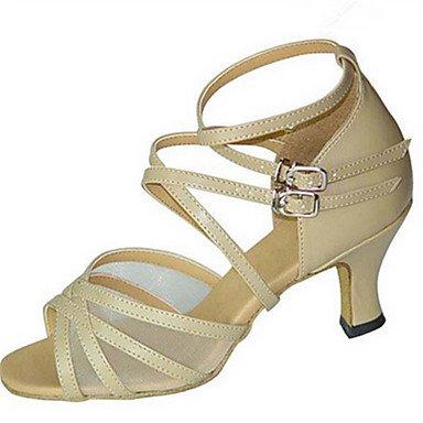 Tacón Personalizables Jazz de Personalizado Zapatos Swing Salsa Leopardo Latino Zapatos Oscuro Almendra red dark Negro de Rojo baile pw8Oq6