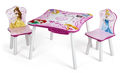 Delta Children Table and Chair Set with Storage, Disney Prin