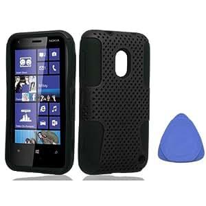 Nokia 620/Lumia Mesh Case Black + Tool
