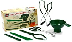 """Measures: 10.25"""" x 3"""" x 1.25"""" / 26cm x 7.5cm x 3cm, 6 Piece SetA must have for the canning enthusiast and begginer alike! Six essential tools for canning and dehydrating. Conveniently all in one box! Capture summer fruit and vegetables at the..."""