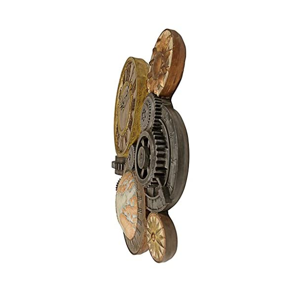 Design Toscano Gears of Time Sculptural Wall Clock 5