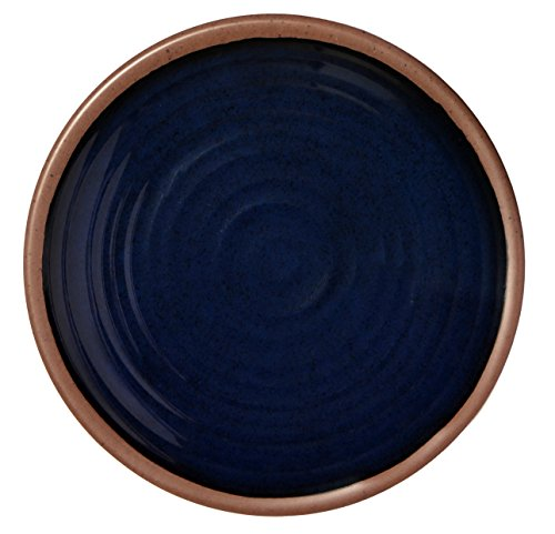 Melange 36-Piece 100% Melamine Salad Plate Set (Clay Collection ) | Shatter-Proof and Chip-Resistant Melamine Salad Plates | Color: Navy - Navy Salad Plate