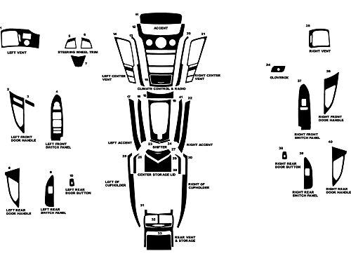 Rdash Dash Kit Decal Trim for Cadillac CTS 2008-2013 - Wood Grain (Burlwood Honey) (Burlwood Honey)