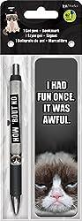 Trends International Grumpy Cat Gel Pen + Bookmark Pack