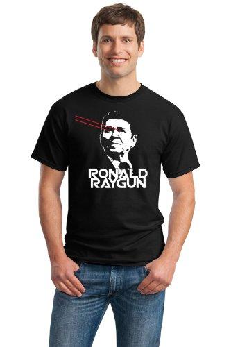 JTshirt.com-20049-RONALD RAYGUN Unisex T-shirt / 80s Laser President Reagan, Funny, Goofy-B009MFTEW4-T Shirt Design