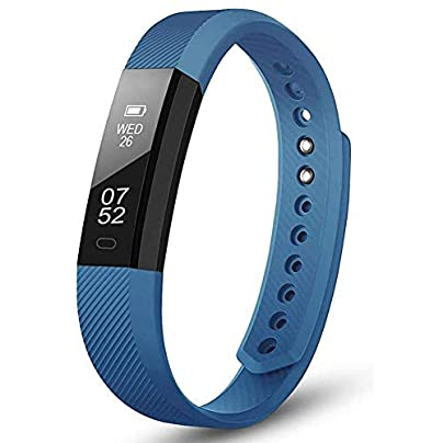 Fitness Tracker Watch HOTSO SmartWatch with Sleep Monitor Bluetooth Smart watch Wristband Bracelet Sport Pedometer Activity Tracker with Alarm Step Tracker Calorie Counter Sleep Tracker for Android Estimated Price £15.99 -