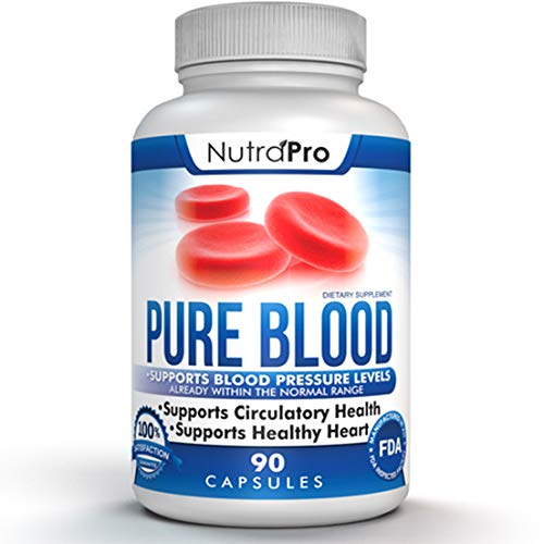 Blood Pressure Support – Healthy Heart,Cholesterol Lowering, Cardiovascular Support.All Natural. Made in GMP Certified Facility.90 Capsules