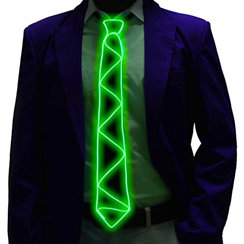Led Light up Tie Halloween Party Neck Tie U Look Ugly Today