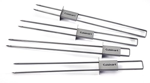 Cuisinart CSKS-048 Sliding Skewer Pack, Silver (Set of 4) (Shrimp Grilling Skewers compare prices)