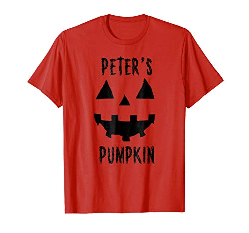 Couples Costume Ideas Halloween T Shirt Peter's Pumpkin]()