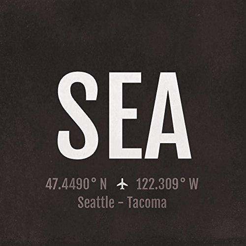 amazon com seattle airport code print sea aviation art