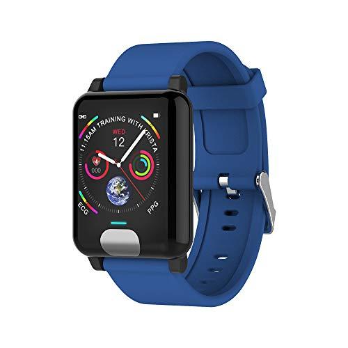 LEERYAAY E04 ECG+PPG Smart Watch Wristband Band Bracelet Heart Rate Monitor Fitness Track Blue