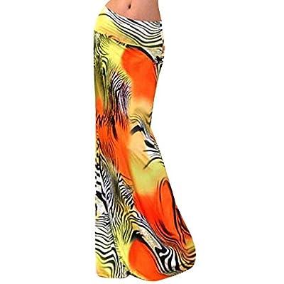 Monique Women Floral Print Maxi Skirt High Waist Hip Package Long Skirt Summer Full Skirts