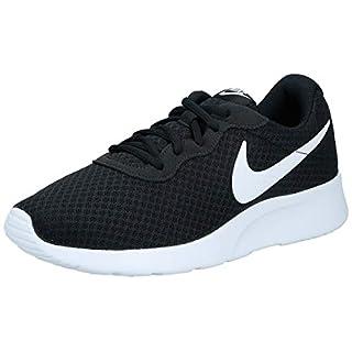 Nike Womens Tanjun Running Sneaker Black/White 8.5