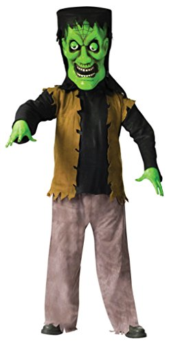 [Funworld Mens Frankenstein Green Bobble Head Monster Halloween Fancy Costume, One Size] (Bobble Head Halloween Costume)