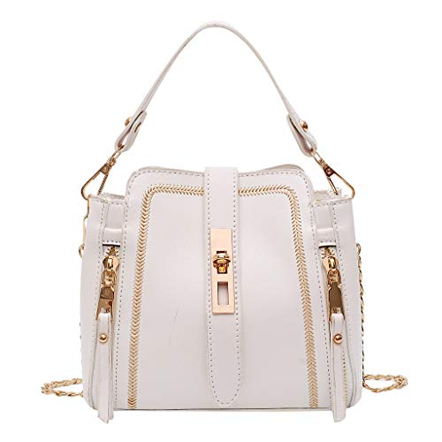 Top Handle Bag AfterSo Clearance Fashion Purse Handbags Womens Girls Gift (19cm(L) x11cm(W) x17cm(H)/7.48(L) x4.33(W) x6.69(H), White)