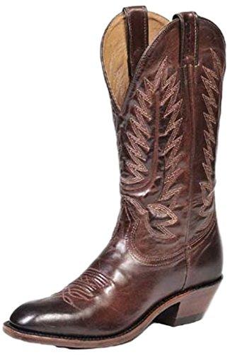 Boulet Hombres Dress Cowboy Bota Round Toe - 8064 Marrón