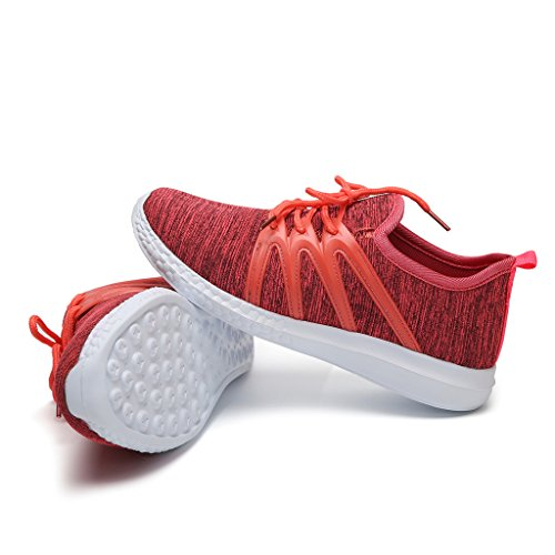 Hawkwell Womens 3D Printed Graphics Fashion Sneaker Red-1 sS9ATrFr