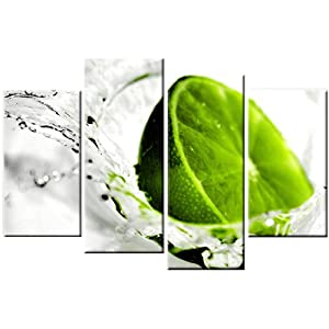 Lime green kitchen wall art kitchen wall art fork for Lime green wall art