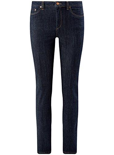 Femme oodji Ultra Haute Bleu Jean 7900w Taille Skinny qf5wr67f