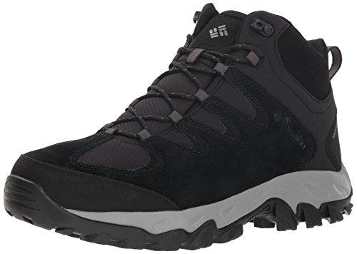 - Columbia Men's Buxton Peak MID Waterproof Wide Hiking Boot, Black, lux, 11  Wide US