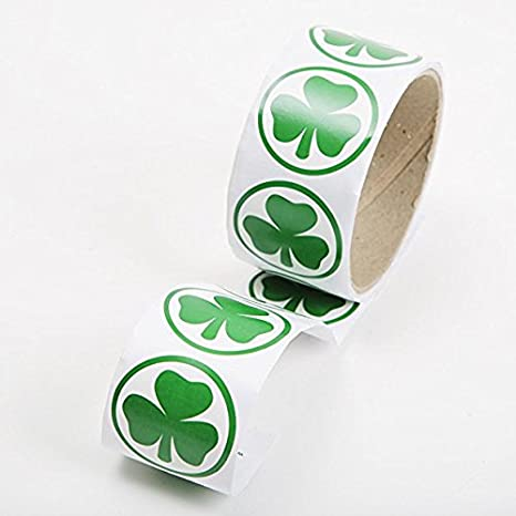 300 Piece Fun Express Shamrock Roll Stickers