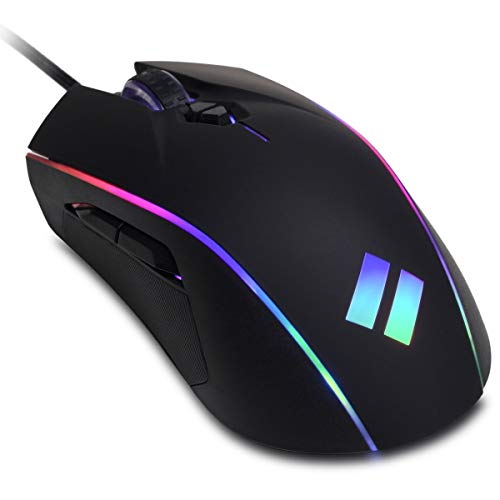 CyberpowerPC Syber SM202 RGB Optical Gaming Mouse (Up to 12, 400 DPI Optical Sensor, 5 Programmable Unique User Settings…