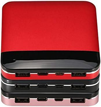 Mini Power Bank Portatile Caricabatteria Esterno Li-Polimero Cpacity di Grandi Dimensioni Powerbank per Type-C per Android per Porte iOS - Rosso