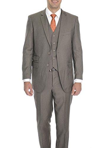 Brown 3 Button Suit - 8