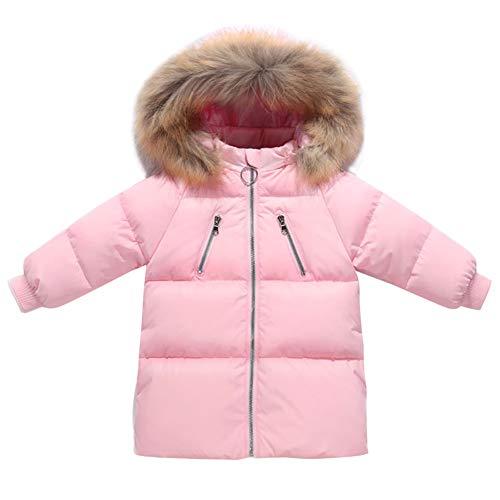 Jacket Cherry Girls - Happy Cherry Girls Down Outerwear Comfortable Soft Warm Winter DownCoat Thicken Windproof Jacket 5-6T Pink