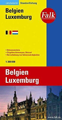 Falk Länderkarte Belgien / Luxemburg 1:300 000 Landkarte – Folded Map, 1. August 2008 Falk Verlag Ostfildern 3827918324 Europa