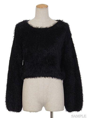 Amazon | titty&Co. (ティティー アンド コー)フェザーニットプルオーバー ブラック F | セーター 通販