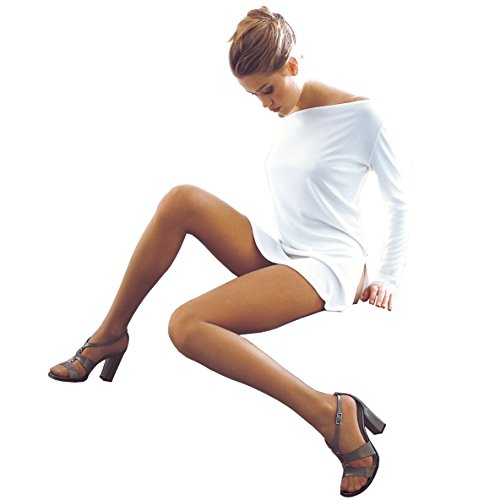 Ibici Voile 15 - A Beautiful 15 Denier Luxury Sheer to Waist Pantyhose/Tights from Italian Hosier Ibici. Made in Italy (Black, Large)