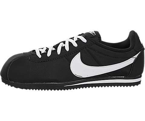 Nike Kids Cortez Nylon (GS) Black/White Casual Shoe 5 Kids US