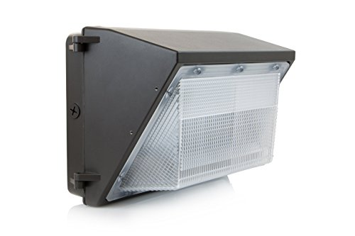 HyperSelect LED 100W Wall Pack Light, Hyperikon, HPS/HID Replacement, 5000K (Crystal White Glow), 8000 Lumen, UL Listed