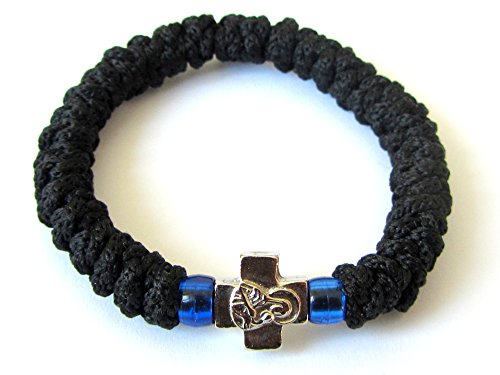 Handmade Christian Orthodox Greek Chotki, Komboskoini,prayer Rope Black Flexible ()