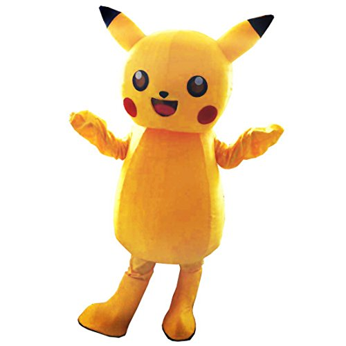 Pocket Monsters Pikachu Mascot Costume mascot cartoon Character Adult Sz 100% Real Picture (Cartoon Characters Costumes For Adults)