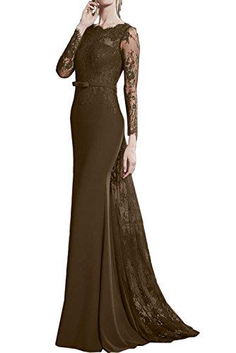 Damen Mutterkleider Schokolade Ivydressing Lang Abendmode Abendkleider Band Romantisch Meerjungfrau Spitze Ballkleider qg57p