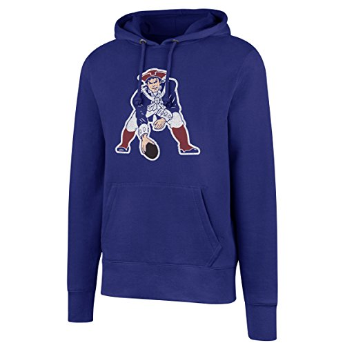 OTS NFL New England Patriots Men's Legacy Fleece Distressed Hoody, Large, Royal