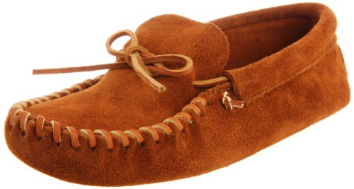 Minnetonka Men's Leather Laced Softsole Moccasin,Brown,11.5 M US